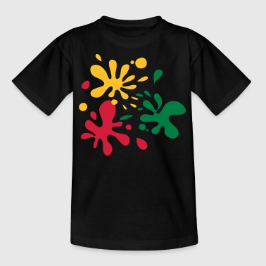 Paint Splats - Teenage T-shirt