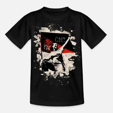 Anarchosyndikalismus Anarchy Flag Woman – bleached - Teenager T-Shirt