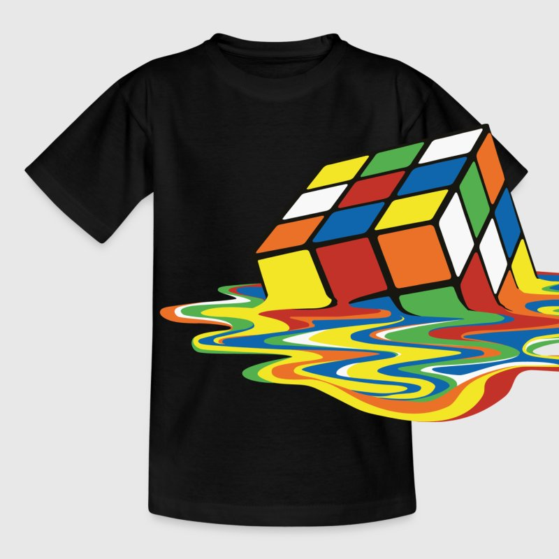 Rubik's Melting Cube - Teenager-T-shirt