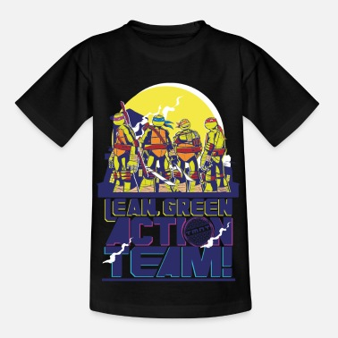 Mutant TMNT Turtles Lean Green Action Team - Teenager T-Shirt
