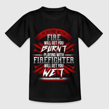 Playing with Firefighter  - EN - Teenager-T-shirt