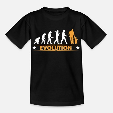 Evolution Father Father and son - evolution - orange/white - Teenage T-Shirt