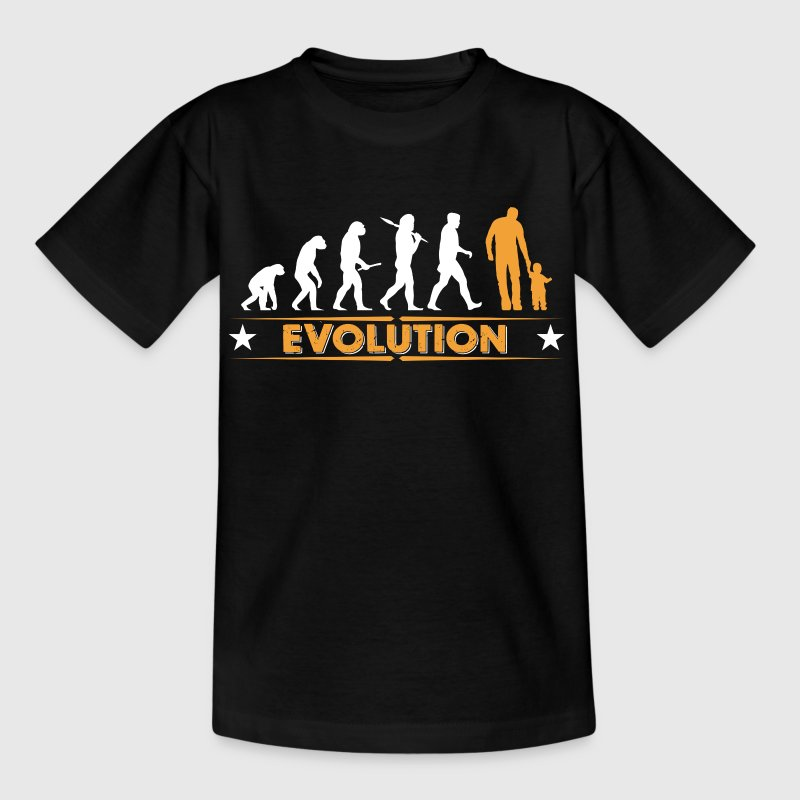 Père et fils - evolution - orange/blanc - T-shirt Ado