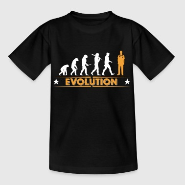 Ordnad evolution - orange/vit - T-shirt tonåring