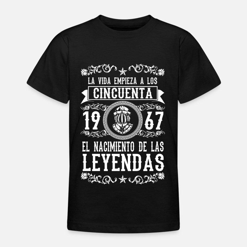Cumpleaños Camisetas - 1967 - 50 años - Leyendas - 2017 - Camiseta  adolescente negro 140a0356b3136