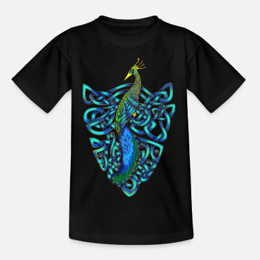 Celtic Knotwork Peacock - Teenage T-Shirt