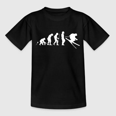 Ski laufen Evolution Fun Shirt - Teenager T-Shirt