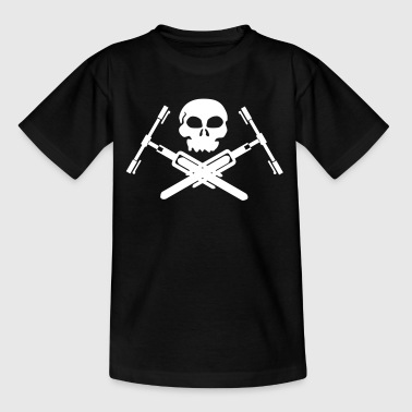 Totenkopf mit bike - Teenager T-Shirt