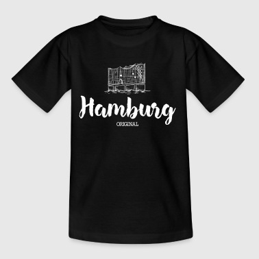 Hamburg Elphi weiß - Teenager T-Shirt