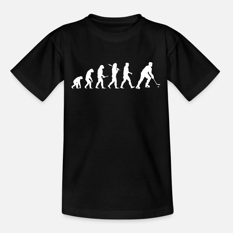 Ice Hockey T-Shirts - Ice hockey evolution - Teenage T-Shirt black