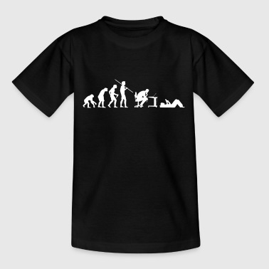 Evolution von Geeks - Teenager T-Shirt
