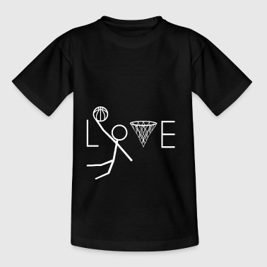 Love basketball gift basketball player - Teenage T-Shirt