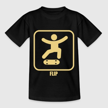 skateboard sign flip - Teenage T-Shirt