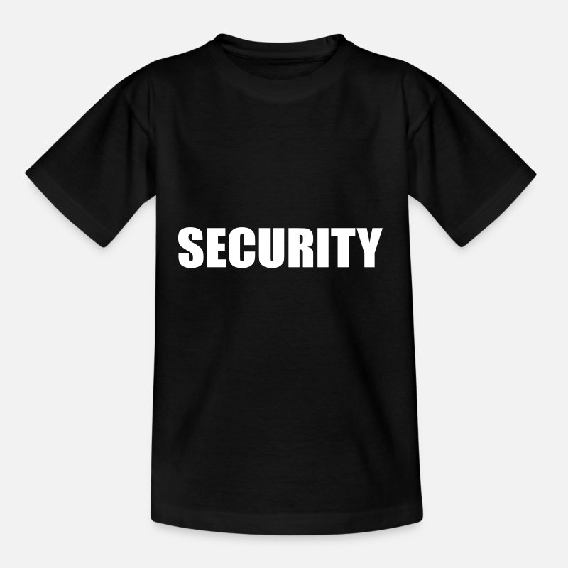 Security T-Shirts - security security service typo uniform official - Teenage T-Shirt black