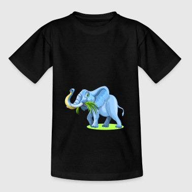 Niedlich blau Elefant Comic Style für Kinder - Teenager T-Shirt