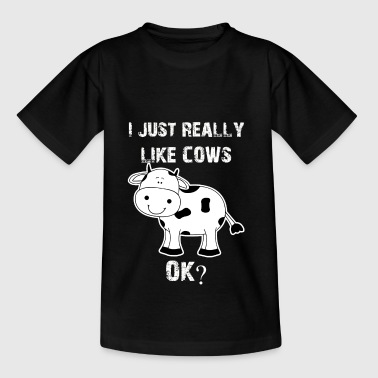 Koe, koeien, vee, koe grappige Farmer - Teenager T-shirt