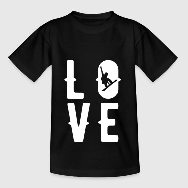 Snowboarden, Love, boarding, snowboarders - Teenager T-shirt