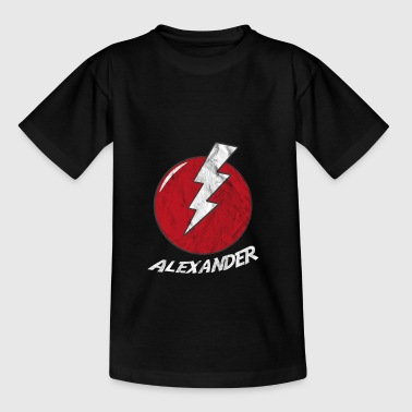 Lightning naam shirt Superhero Superhero Alexander - Teenager T-shirt