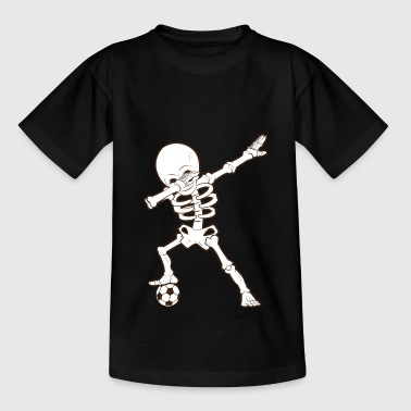 Dabbing Skeleton Soccer T-Shirt Squelette de football - T-shirt Ado