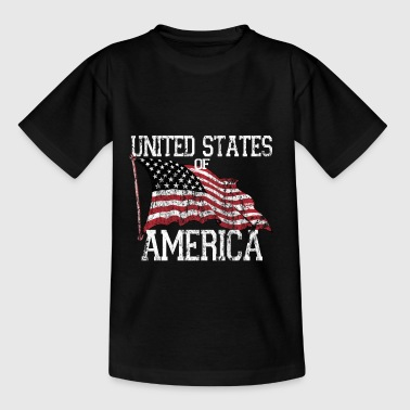 Flagge USA United States Amerika US Geschenk - Teenager T-Shirt