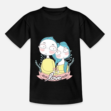 Lover Boy and Girl - Teenage T-Shirt