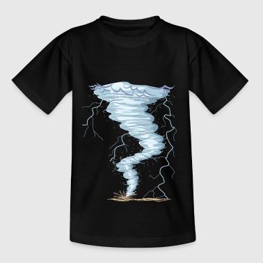 Wetter Tornado Windhose Sturmjäger cooles Design - Teenager T-Shirt