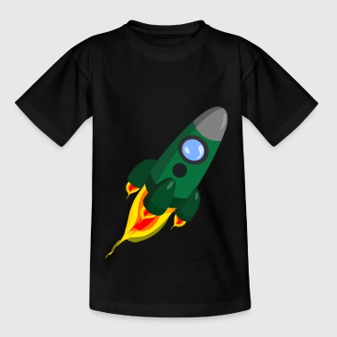 rakete rocket space shuttle ufo raumschiff mond - Teenager T-Shirt