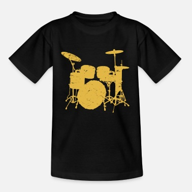 Drummer Vintage Retro Pop Art Drummer Gufts.Drumming Kit. - Teenage T-Shirt