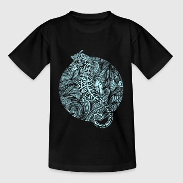 Seahorse waves v1 grunge - Teenager T-Shirt