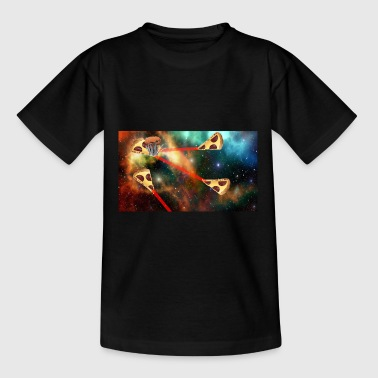 Space pizza - Teenager-T-shirt