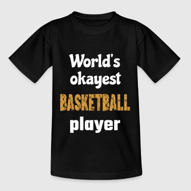 Basketball Korb Werfen Dribbling Mannschaft Shirt - Teenager T-Shirt