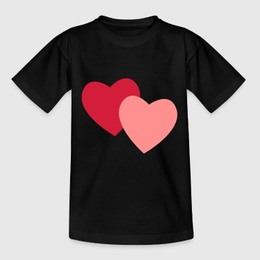 roze hartjes - Teenager T-shirt
