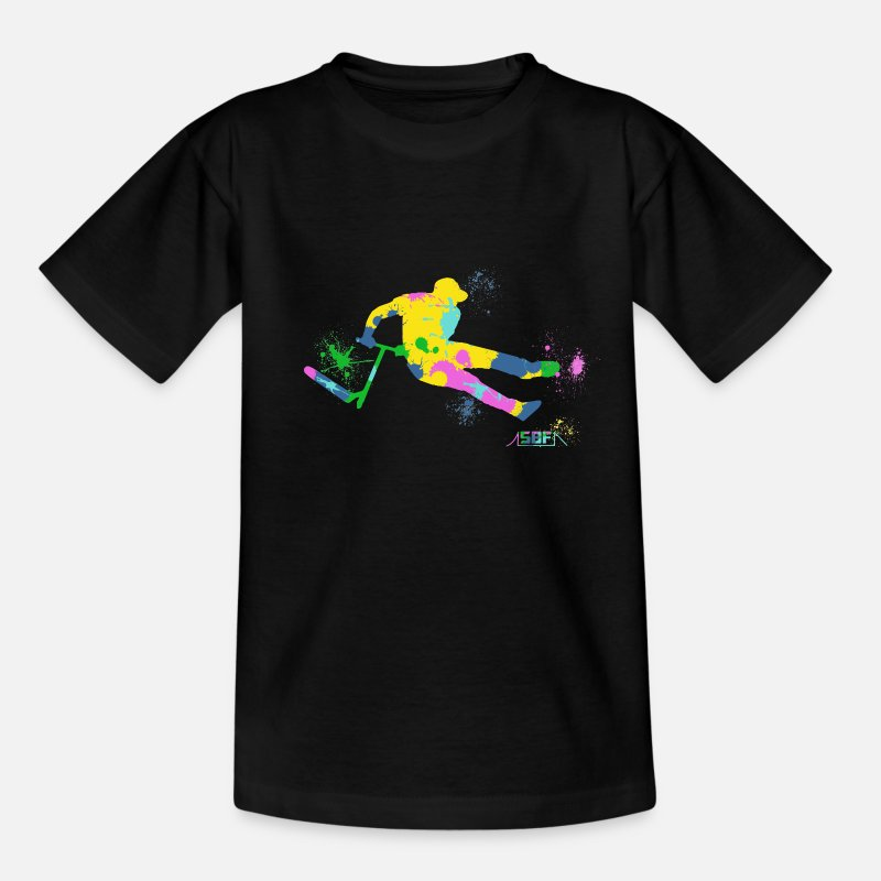 Scooter T-Shirts - Festive Scooter - Teenage T-Shirt black