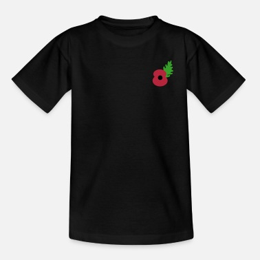 Poppy poppy flower by_patjila - Teenage T-Shirt