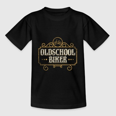 Oldschool Biker Lustiges Fahrrad Shirt - Teenager T-Shirt