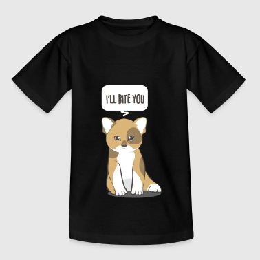 Cat sayings gift cartoon kids kitten cute - Teenage T-Shirt