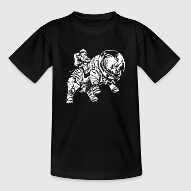 spacerhino white - Teenager T-Shirt