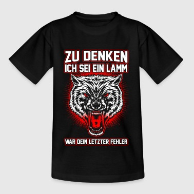 Wolf - fout - Teenager T-shirt