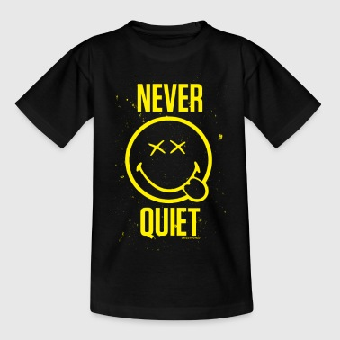Plaudertasche SmileyWorld Never Quiet Niemals Still - Teenager T-Shirt