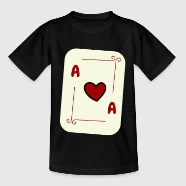 Heart Ace, Playing Card, Card Game, Ace, Card - Teenage T-Shirt