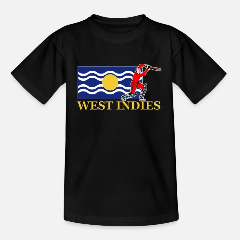 West T-Shirts - West Indies Cricket Player - Teenage T-Shirt black