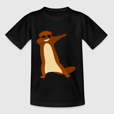 Dabbing Otter With Sunglasses - Cool Gift - Teenage T-shirt