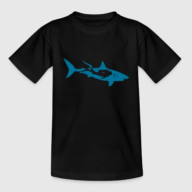 scuba diving diver shark jaws whale dolphin - Teenage T-Shirt