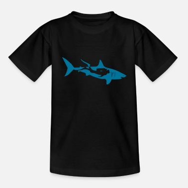 Scuba Diving scuba diving diver shark jaws whale dolphin - Teenage T-Shirt