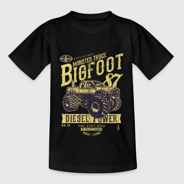 Monster Truck Big Foot - Vintage Truck Shirt Design - Teenager-T-shirt