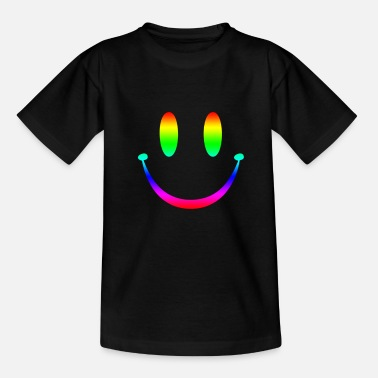 Acid House Smiley Rainbow Smiley 3 - Teenage T-Shirt
