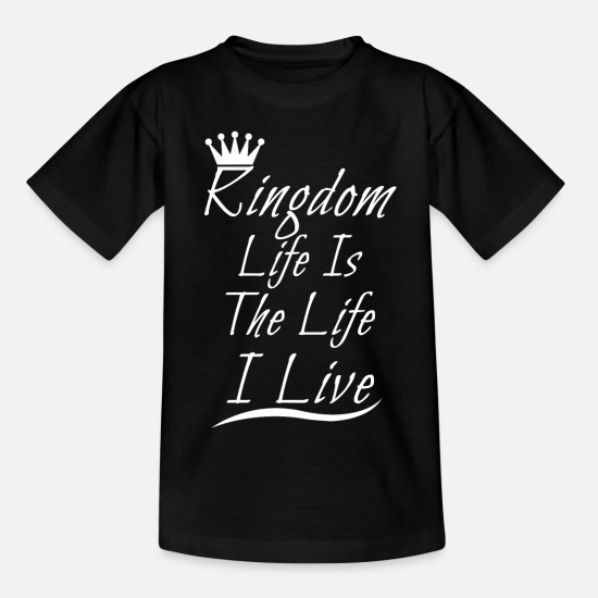 Royal T-Shirts - KINGDOM SHIRT - Teenage T-Shirt black
