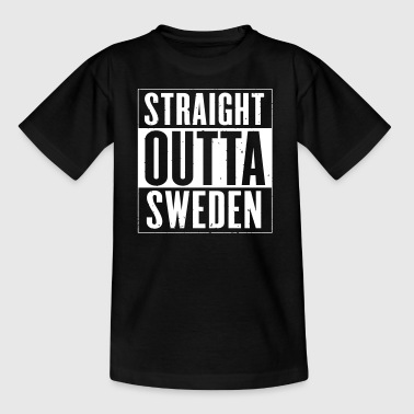 STRAIGHT OUTTA SWEDEN - T-shirt tonåring