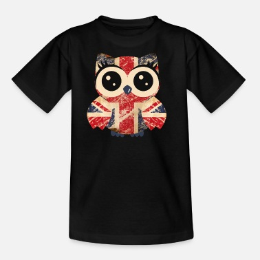 Uk Flag Owl UK - Teenage T-Shirt