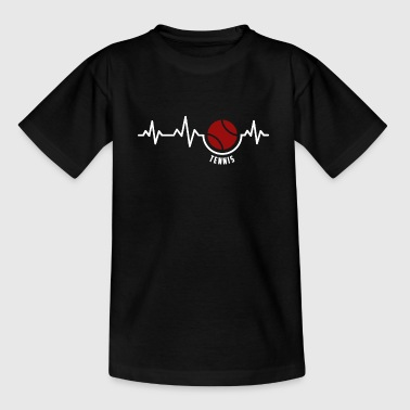 Heartbeat -Tennis Tennisspieler Tennisspielen - Teenager T-Shirt